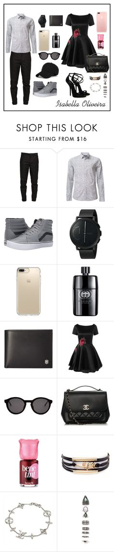 """""""#127-Women's and Men's"""" by bellaisa34 ❤ liked on Polyvore featuring Maison Margiela, Calvin Klein, Vans, Skagen, Speck, Gucci, Victorinox Swiss Army, Giuseppe Zanotti, Thierry Lasry and Chanel"""