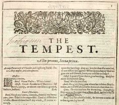 The Tempest, my favorite Shakespeare play <3