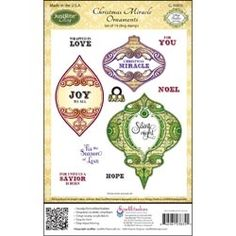 Christmas Miracle Ornaments - $19.95  Christmas Miracle Ornaments by JustRite Stampers is a cling set of 14 clear stamps.     This set also coordinates with: JB-03830JustRite Custom Antique Labels One dies JB-10020JustRite Custom Nested Medallion Labels dies JB-10025JustRite Custom Nested Oval Medallion Labels dies S5-116Spellbinders 2012 Heirloom Ornaments S4-334Spellbinders 2011 Heirloom Ornaments S4-283Spellbinders 2010 Heirloom Ornaments