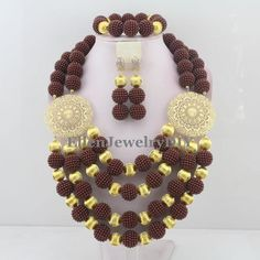 African Beads Rushed Classic Women Coral Jewelry Sets