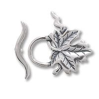 Leaf Toggle Clasp | 27x15mm Sterling Silver Toggle Clasp