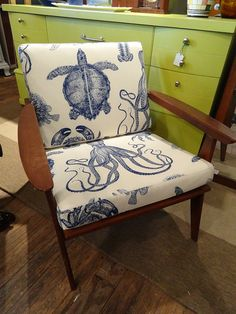 MidCentury armchair with Thomas Paul Oceania by belgiumifye, $395.00