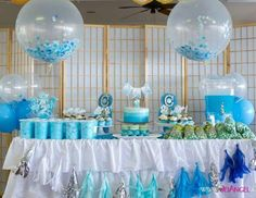 Boy's Blue Ombre Birthday Party