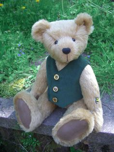 Store Bear Design, Applique Designs, Teddy Bears, Doll Clothes, Plush, Dolls, Store, Sweet, Fabric
