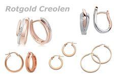 Rotgolf Ohrringe und schicke Creolen mit toller Optik