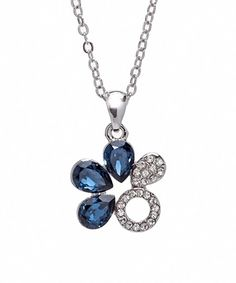 callura Montana Swarovski® Crystal Floral Pendant Necklace | zulily  . $19.99 $75.00  . 		 