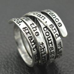 $6.67 Spring Engraving Letters Ring