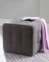 "25% Off  KEY CITY FURNITURE ""BEVERLY"" TUFTED CUBE OTTOMAN  Compare At:  799.00  Special Value: 647.00"