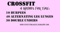 Good at home CrossFit Workout! #crossfit Can't do double unders do 60 regular jump ropes.