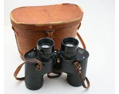 Vintage black field binoculars 7x35 from SmilingCatVintage
