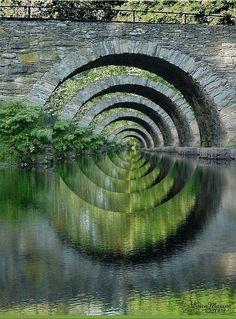 Stone Bridge Optical Illusion New York