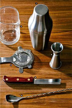 Manual de coctelería, herramientas básicas de cocteleria