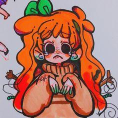 Kawaii Drawings, Cartoon Drawings, Cute Drawings, Art Inspiration Drawing, Character Design Inspiration, Cartoon Art Styles, Marker Art, Art Challenge, Aesthetic Art