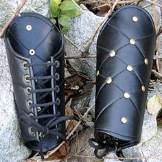 Leather Vambraces - NEW!: Renaissance Costumes, Medieval Clothing, Madrigal Costume: The Tudor Shoppe