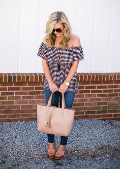 Mom Style Monday, Cristin Cooper, The Southern Style Guide, Gingham, Spring Trends