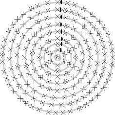 かぎ針編み 大円 編み図 - Google 検索