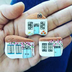 Little houses, rockart, pebble, 2017, create by Aysegul
