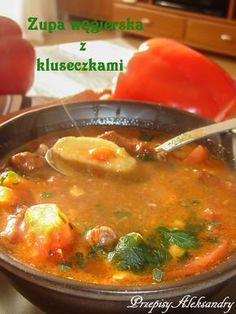Czech Recipes, Ethnic Recipes, Soup Recipes, Cooking Recipes, Garlic Roasted Potatoes, Sandwiches, Polish Recipes, Polish Food, Soups And Stews