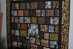 Quilted Lap Quilt Or wall hanging Lion King Safari in Crafts, Handcrafted & Finished Pieces, Home Décor & Accents, Wall Hangings Hanging Quilts, Hanging Banner, Hanging Wall Art, Monogram Wall Hangings, Quilted Wall Hangings, Wildlife Quilts, Quilted Throw Blanket, Cat Quilt, Panel Quilts