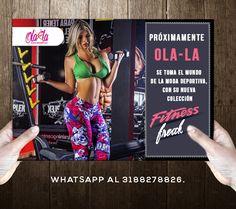 Próximamente OLA-LA se toma el mundo de la moda deportiva, con su nueva colección FITNESS FREAK… OLA-LA es como tú... + fitness + Crossfit + GYM http://www.ola-laropadeportiva.com/ Contáctenos por whatsapp al +57 3188278826. #GYM #Workout #Nuevacolección #FitnessFreak #Trajesdebaño #Vestidosdebaño #Verano2016 #CostaRica #Leggins #TOPS #Summerfit #Olalaropadeportiva #Ecommerce #Online #Comercioelectrónico #Colombia