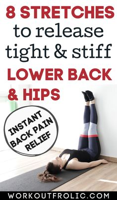 Back Spasm Relief, Hip Pain Relief, Lower Back Pain Relief, Neck And Back Pain, Middle Back Pain, The Middle, Hip Mobility Exercises, Hip Strengthening Exercises, Hip Stretches