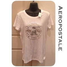 🆕Aero Top Relaxed fit, length 26 inches, 60% cotton, 40% polyester, machine was/dry. Smoke and pet free home. All product is sealed in plastic💙. I'm sorry but I don't trade or try on clothes. Bin300-29 Aeropostale Tops Tees - Short Sleeve