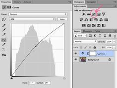 curve setting in photoshop for film look