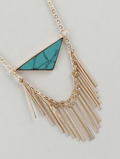 METAL FRINGE DOUBLE LAYER NECKLACE AND EARRING SET