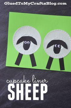 Cupcake Liner Sheep - Kid Craft