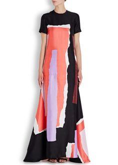 Garnet printed silk maxi dress - Maxi Dresses -