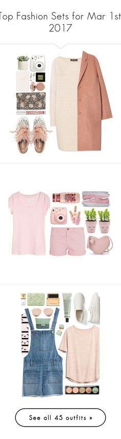 """Top Fashion Sets for Mar 1st, 2017"" by polyvore ❤ liked on Polyvore featuring Miu Miu, Loro Piana, Acne Studios, New Look, Victoria's Secret, Smythson, Fujifilm, Adia Kibur, Bobbi Brown Cosmetics and Allstate Floral"