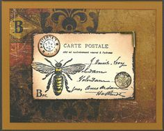 Stamp-it Australia: 4736E Bee Post Card, siset077 - Card by Susan from Dreamer Catalogue