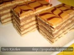 Prajitura Dobos Hungarian Cake, Russian Cakes, Romanian Food, Romanian Recipes, Cake & Co, Dessert Recipes, Desserts, Brownies, Biscuits