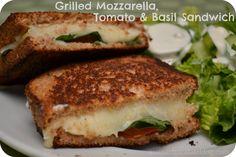 Grilled Mozzarella, Tomato & Basil Sandwich