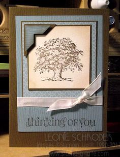 cards with tree stamps | Lovely Tree Masculine card