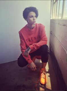 Ruby Rose, aka, my new style icon ever.                              …