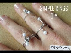 DIY Wire and Pearl Rings Tutorial