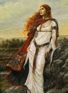 Scátthach, the Scottish Warrior Goddess: According to P.Monaghan Scátthach was an Irish Heroine who Lived on Island Made For Her; Isle of Skye in Scotland. She Taught Warriors but in order to get to her they had to pass the Bridge of the Cliff, an extremely challenging task (that even brought Cúchulann to brink as he performed his salmon leap to gain entry). Found on Pinterest ~Mona~