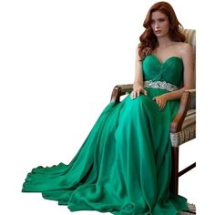 Pre-owned Jovani Green Silk Jeweled Evening Gown Dress ($360) ❤ liked on Polyvore featuring dresses, gowns, green, green dress, silk gown, white evening dresses, green gown and white ball gowns