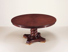 25001 // Decca // Traditional Collection // Traditional Hand Carved Round Dining Table