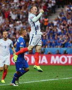 Elation for England captain Rooney... but short lived. #EURO2016