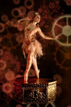 music box dancer, the edison LA - more of the gears lighting background