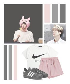 """Kim Seokjin"" by lilian95 ❤ liked on Polyvore featuring NIKE, adidas Originals, kpop, bts, BangtanBoys, jin and KimSeokJin"