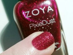 Zoya Nail Polish in Chyna from the NEW textured PixieDust Collection - perfect for Valentine's Day! Looks like ruby slippers! Rose Gold Nail Polish, Zoya Nail Polish, Nail Polish Colors, Halo Nails, Fingernail Designs, Nail Envy, Nail Polish Collection, Nail Spa, Red Nails