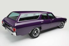 "utwo: "" '71 Chevrolet Chevelle Wagon © msn.com "" Purple people eater."