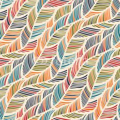 Colorful abstract feather wave illustration decorative pattern Art Print by Be Kind Vibes - X-Small Pattern Drawing, Pattern Art, Pattern Design, Pattern Ideas, Wave Illustration, Pattern Illustration, Line Patterns, Color Patterns, Prints And Patterns