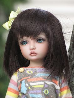 a doll of what i think milena will look like as a little girl