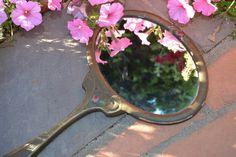 Art Nouveau Hand Mirror Vintage