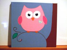 Cute for a birthday party! owl acrylic canvas print