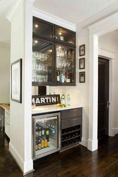 Wine Fridge - 50 Stunning Home Bar Designs - Style Estate -